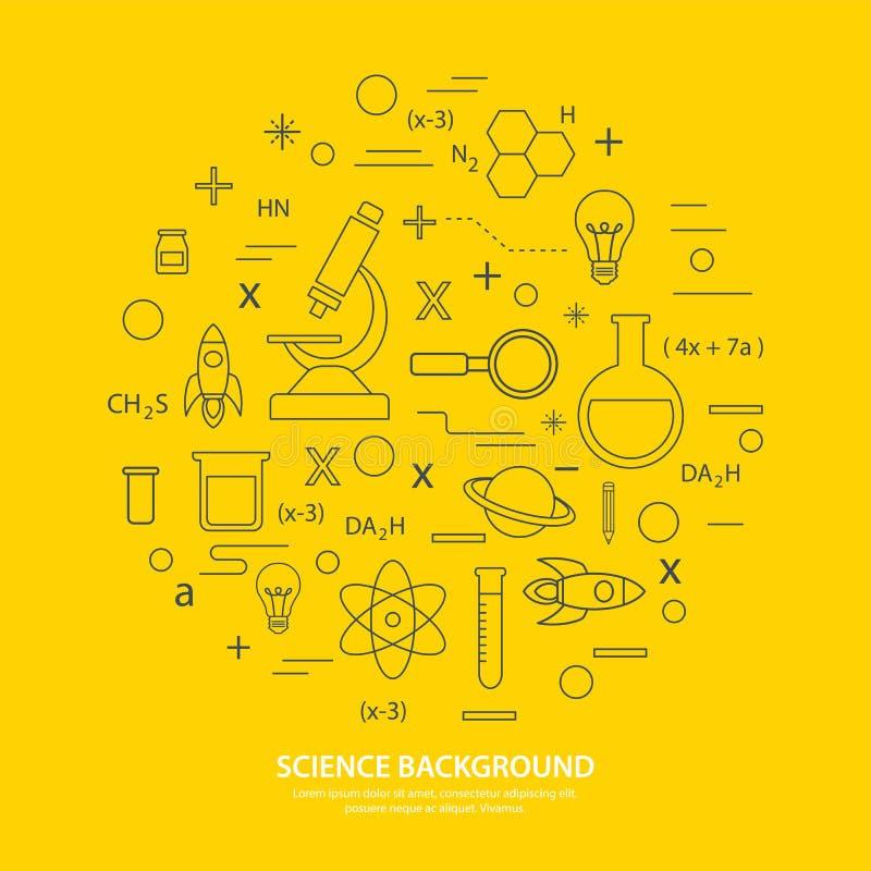 De achtergrond van het wetenschapspictogram vector illustratie