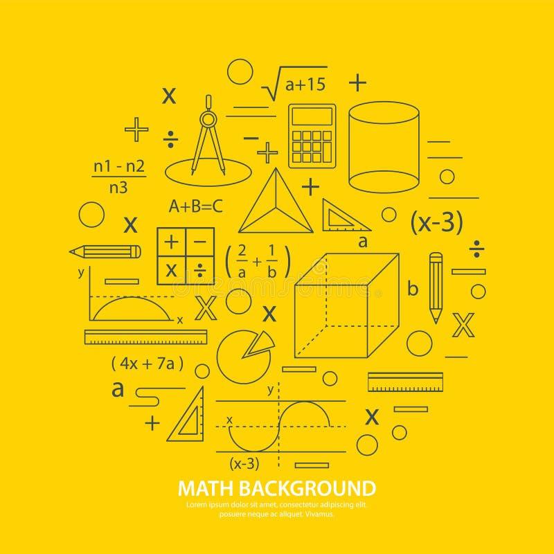 De achtergrond van het wiskundepictogram stock illustratie