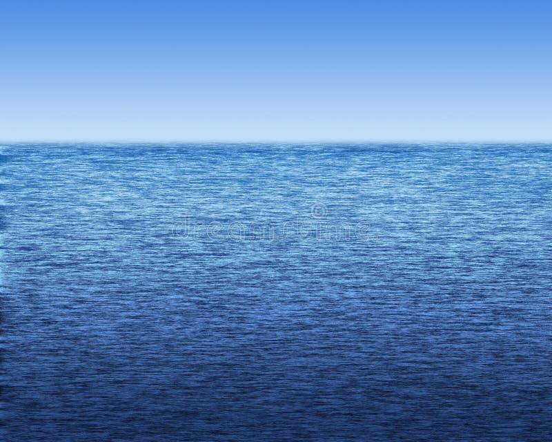 De achtergrond van het zeegezicht vector illustratie