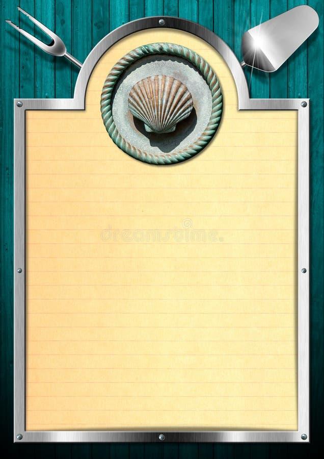 De Achtergrond van het zeevruchtenmenu royalty-vrije illustratie