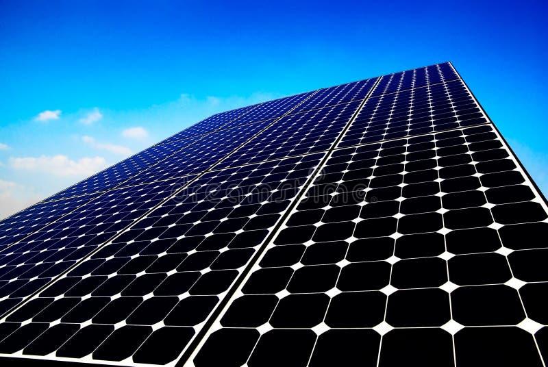 De achtergrond van het zonnepaneel royalty-vrije stock foto's