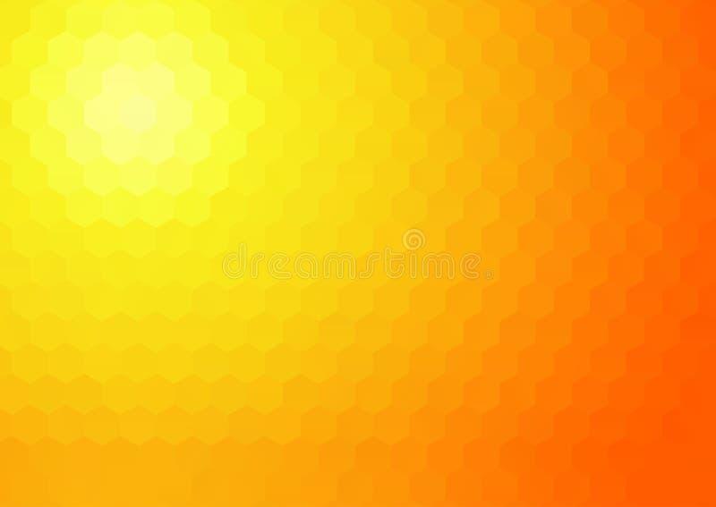 De achtergrond van het zonneschijnmozaïek royalty-vrije illustratie