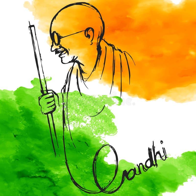 De achtergrond van India voor Gandhi Jayanti royalty-vrije illustratie