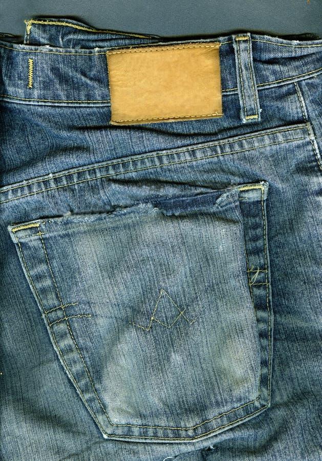 Jeansachtergrond. stock afbeelding