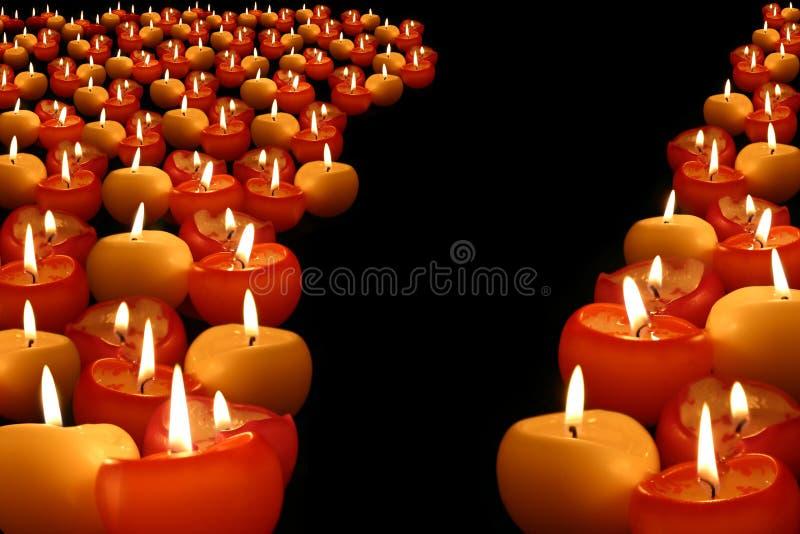 De achtergrond van kaarsen royalty-vrije stock foto's