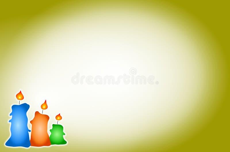 De Achtergrond van kaarsen stock illustratie