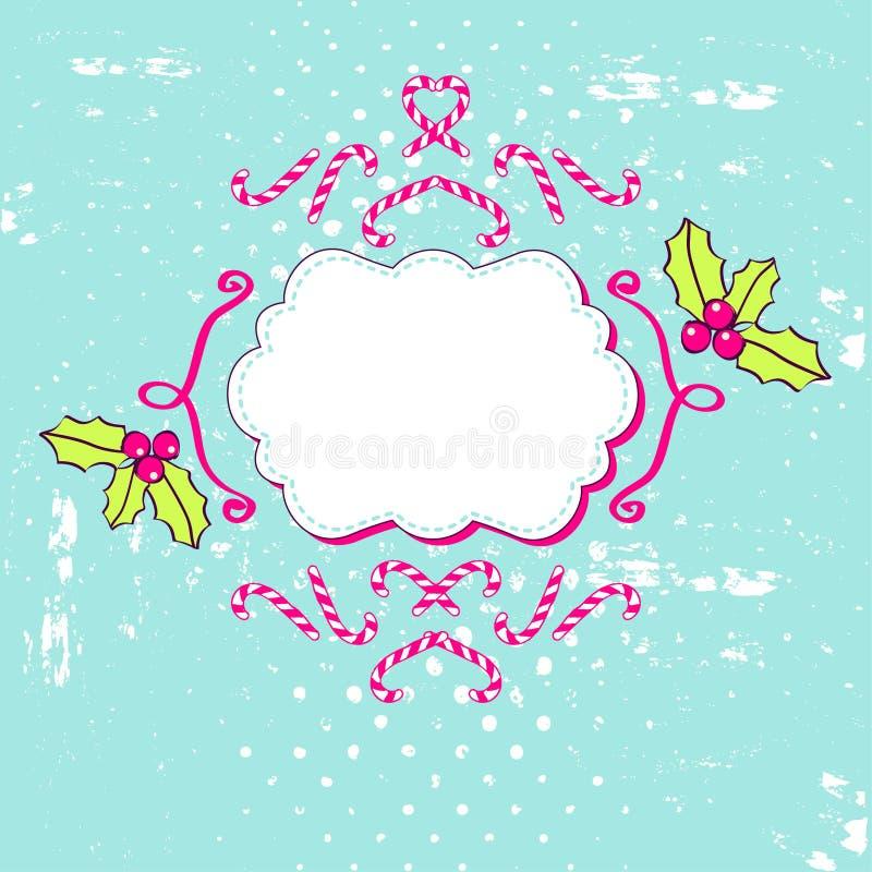 Download De Achtergrond Van Kerstmis Vector Illustratie - Illustratie bestaande uit mistletoe, dekking: 29509181