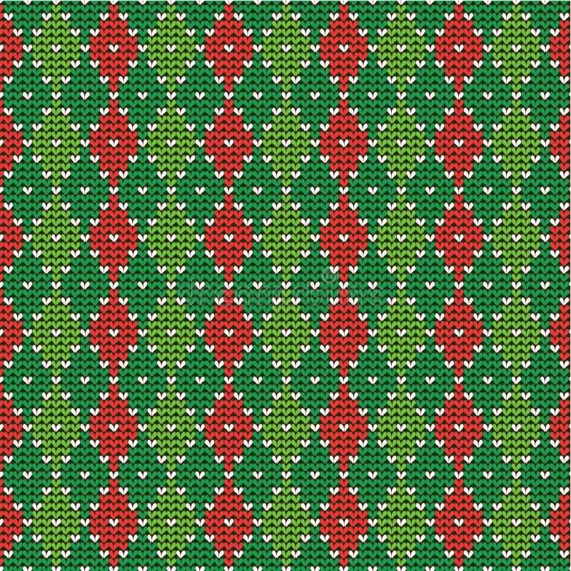 De achtergrond van Kerstmis argyle, naadloos patroon incl royalty-vrije illustratie