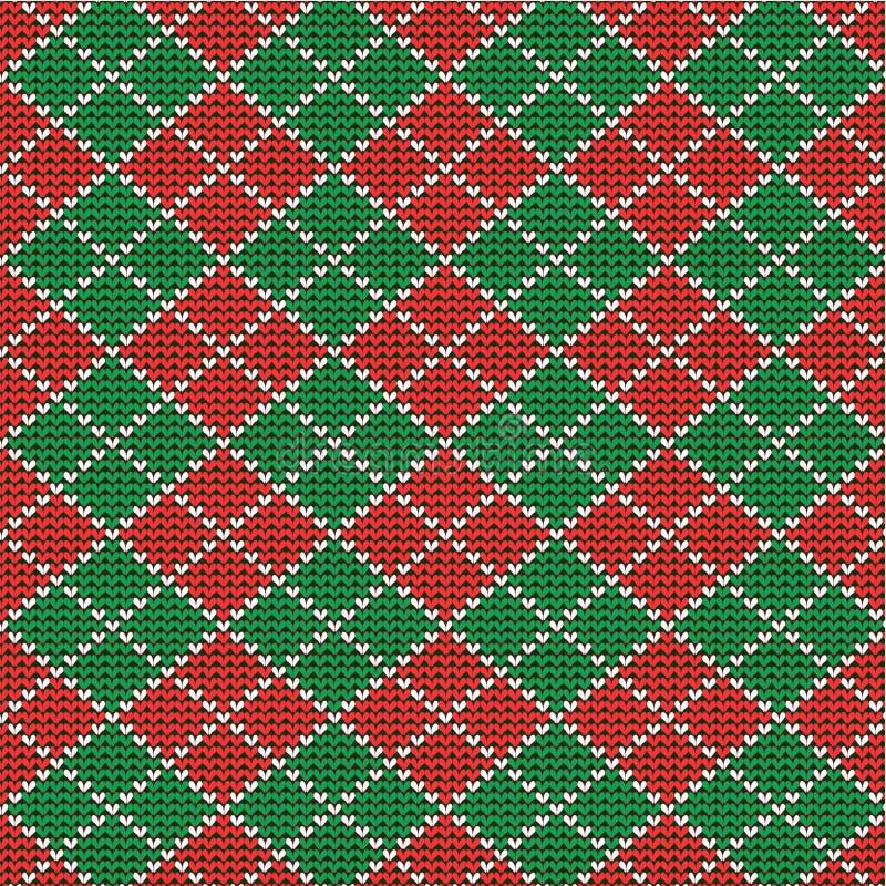 De achtergrond van Kerstmis argyle, naadloos patroon incl vector illustratie