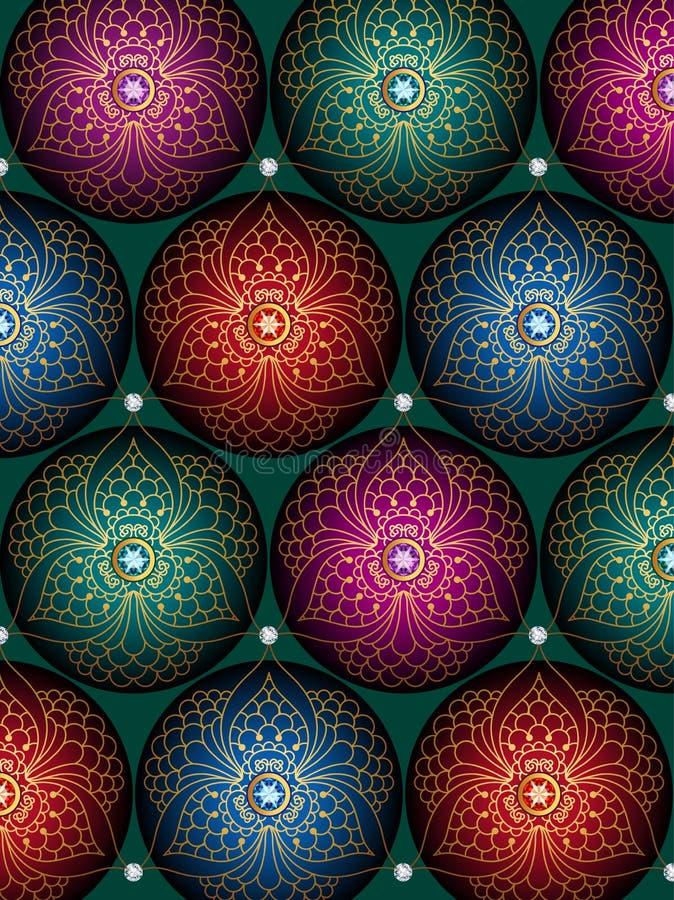 De achtergrond van Kerstmis van ballen stock foto