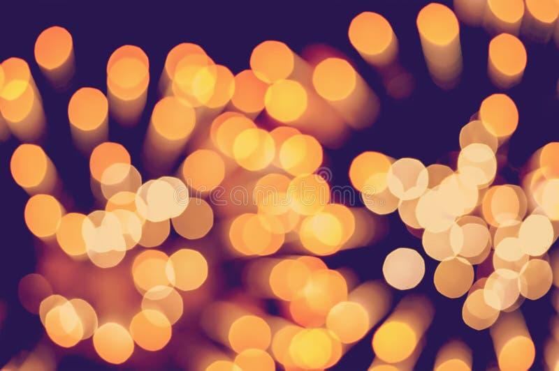 De achtergrond van Kerstmis Feestelijke elegante abstracte achtergrond met bokehlichten en sterren stock foto