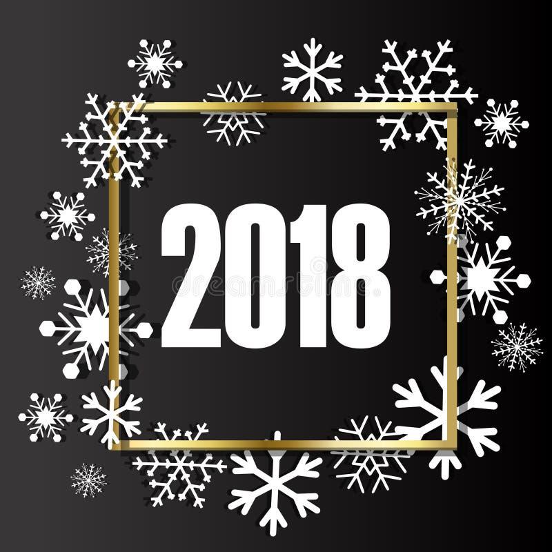 De achtergrond van Kerstmis Kader van sneeuwvlokken met ruimte voor tekst wordt gemaakt die vector illustratie