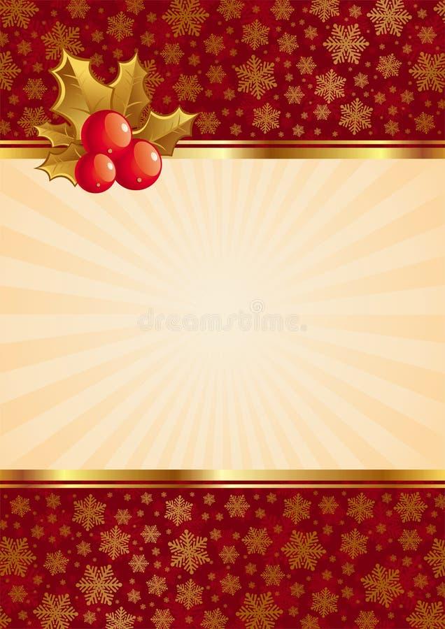 De achtergrond van Kerstmis met bessen vector illustratie
