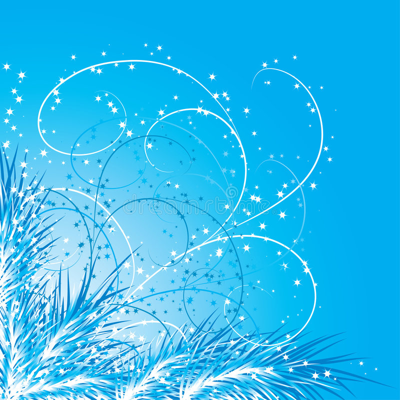 De achtergrond van Kerstmis met een spar, vector stock illustratie