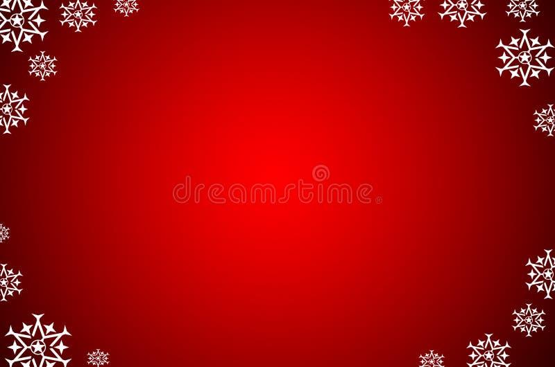 De achtergrond van Kerstmis met sneeuw vector illustratie