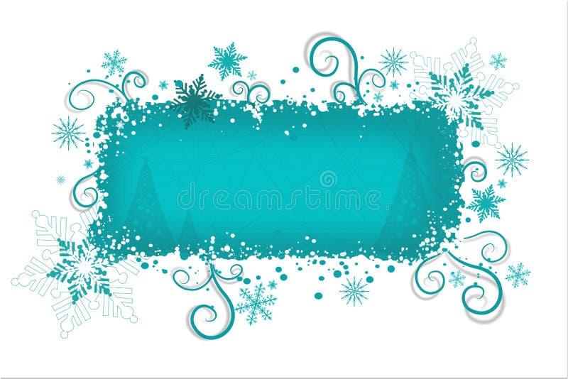 De achtergrond van Kerstmis van Aqua   royalty-vrije illustratie