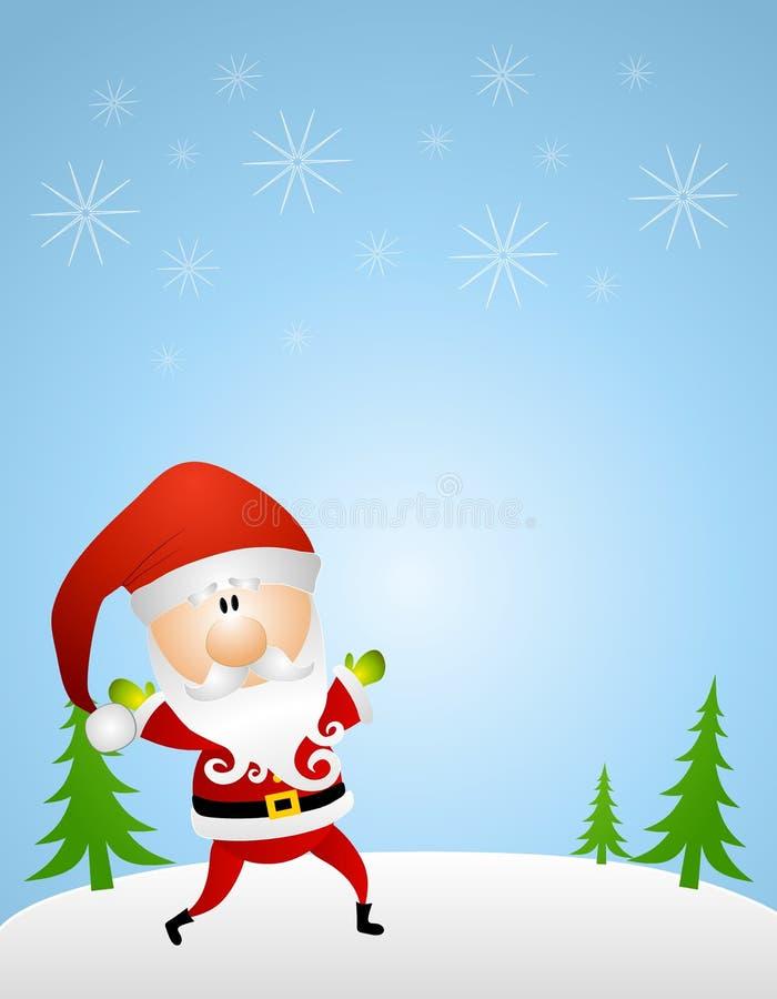 De Achtergrond van Kerstmis van de Kerstman stock illustratie