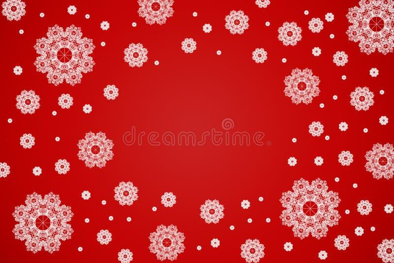 De achtergrond van Kerstmis van de sneeuw royalty-vrije illustratie
