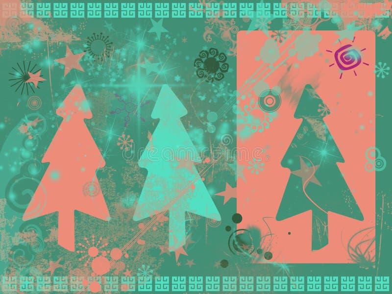De achtergrond van Kerstmis van Grunge vector illustratie
