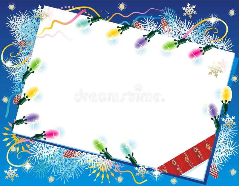 De achtergrond van Kerstmis of van het Nieuwjaar vector illustratie