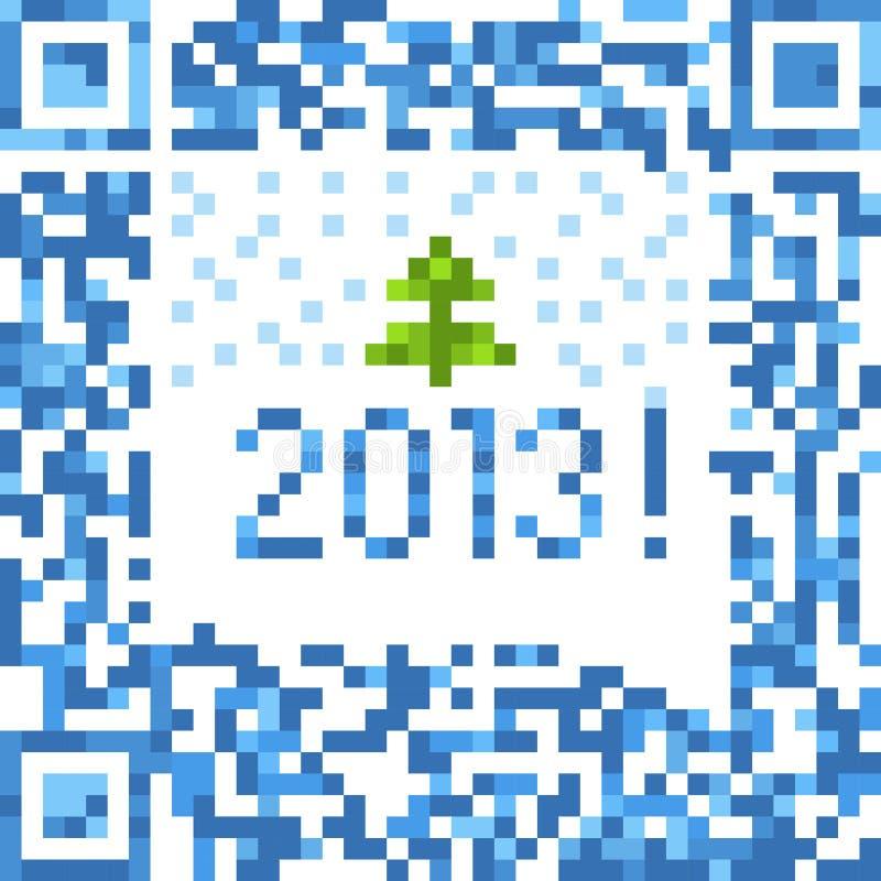 De achtergrond van Kerstmis van qr-code royalty-vrije illustratie