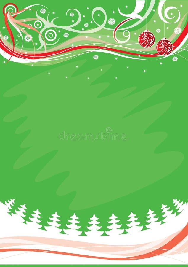 De achtergrond van Kerstmis, vector i vector illustratie
