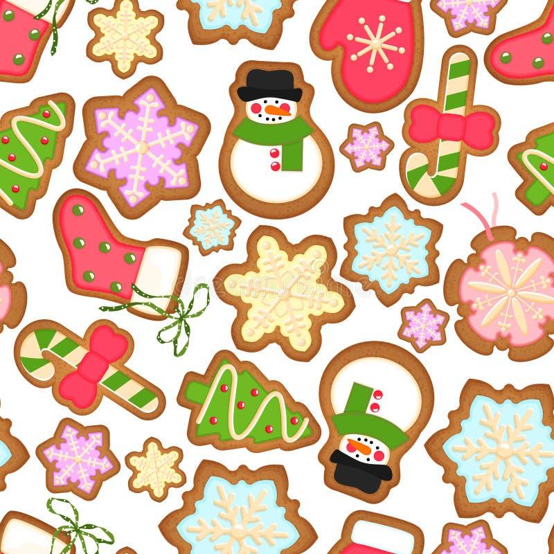 De achtergrond van Kerstmiskoekjes royalty-vrije illustratie