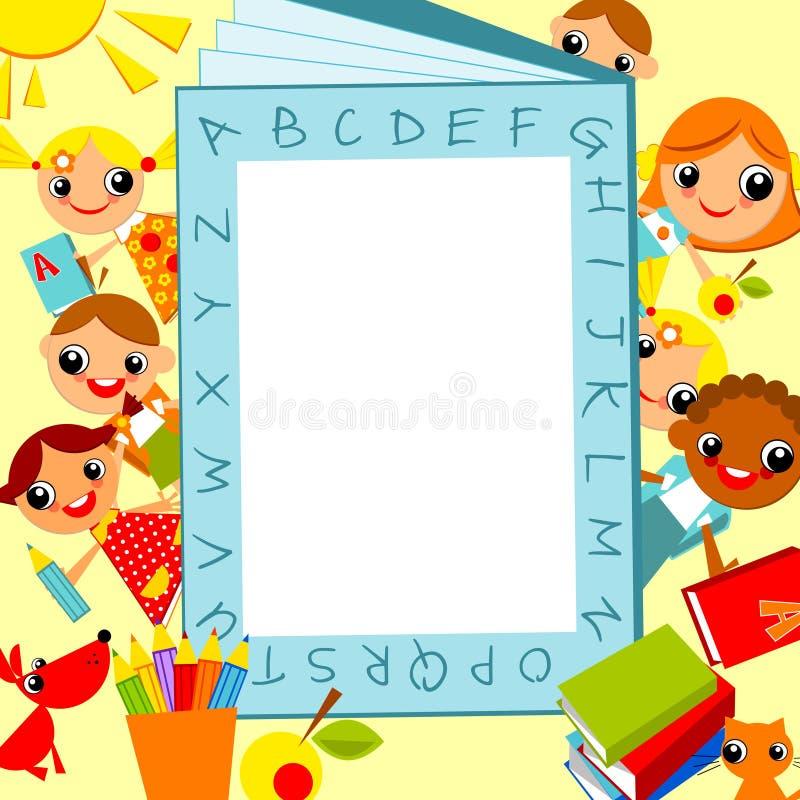 De achtergrond van kinderen royalty-vrije illustratie