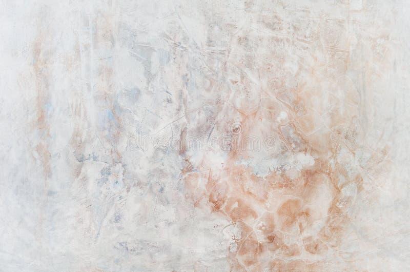 De achtergrond van de kleur Grunge rode blauw en geel geschilderd op concrete muur textuursamenvatting voor achtergrond stock foto