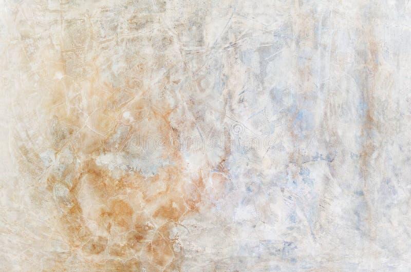 De achtergrond van de kleur Grunge rode blauw en geel geschilderd op concrete muur textuursamenvatting voor achtergrond royalty-vrije stock foto's