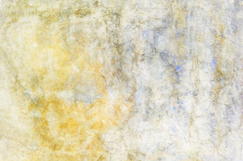 De achtergrond van de kleur Grunge rode blauw en geel geschilderd op concrete muur textuursamenvatting voor achtergrond stock afbeeldingen