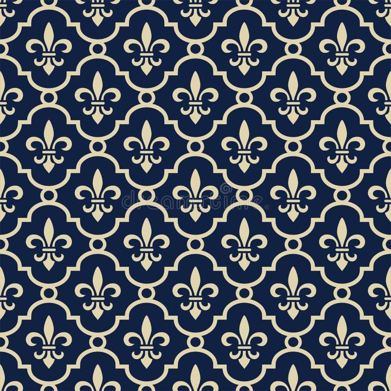 De achtergrond van koningsblauwen royalty-vrije illustratie