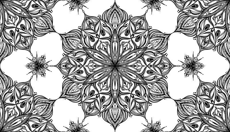 De Achtergrond van Mandala Flower Pattern - Tileable- royalty-vrije stock foto