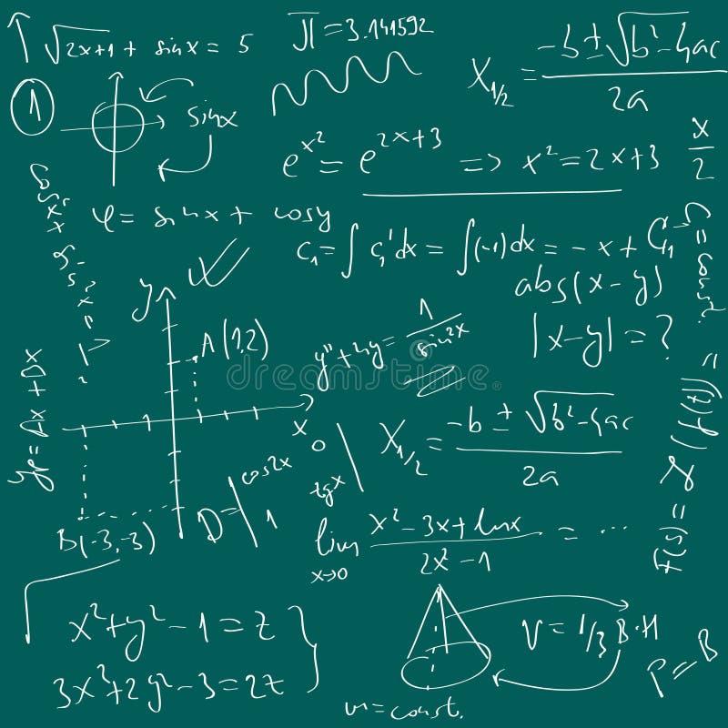 De achtergrond van Math royalty-vrije illustratie