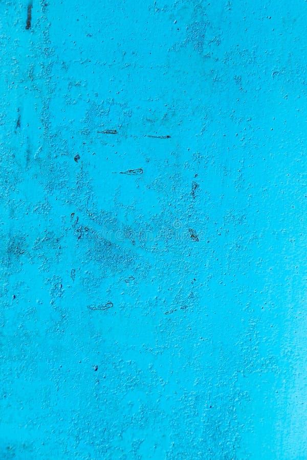 De achtergrond van metaal schilderde blauw stock afbeelding