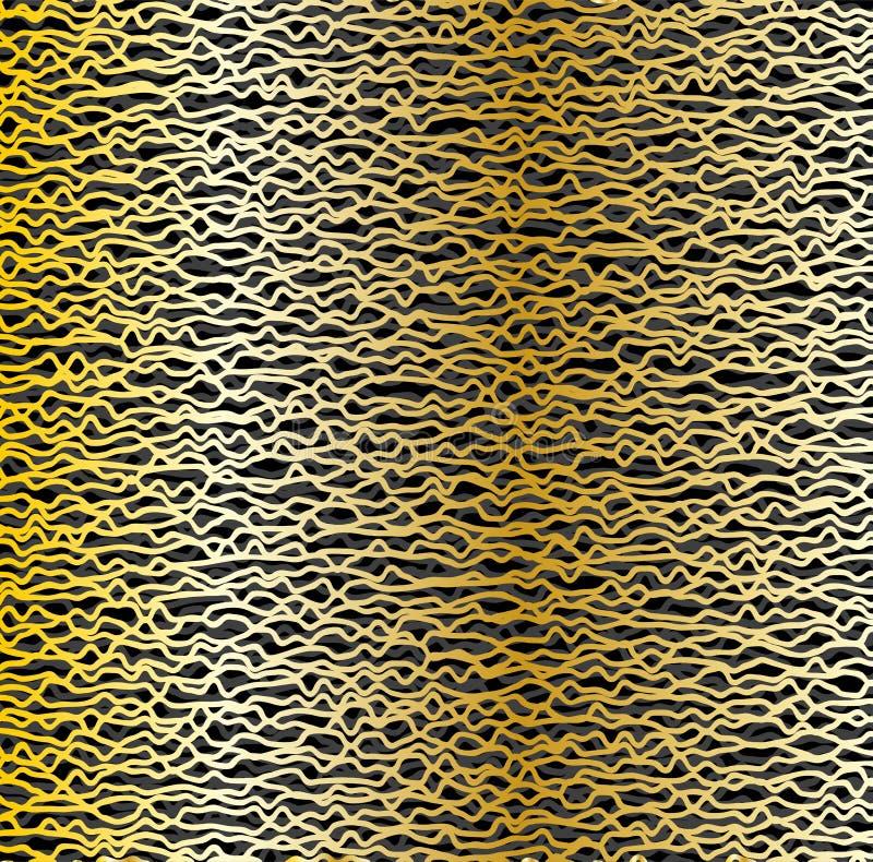 De achtergrond van de metaalgradiënt Abstracte netwerk of vezeltextuur Snijdende gebroken lijnen Industriële Achtergrond vector illustratie