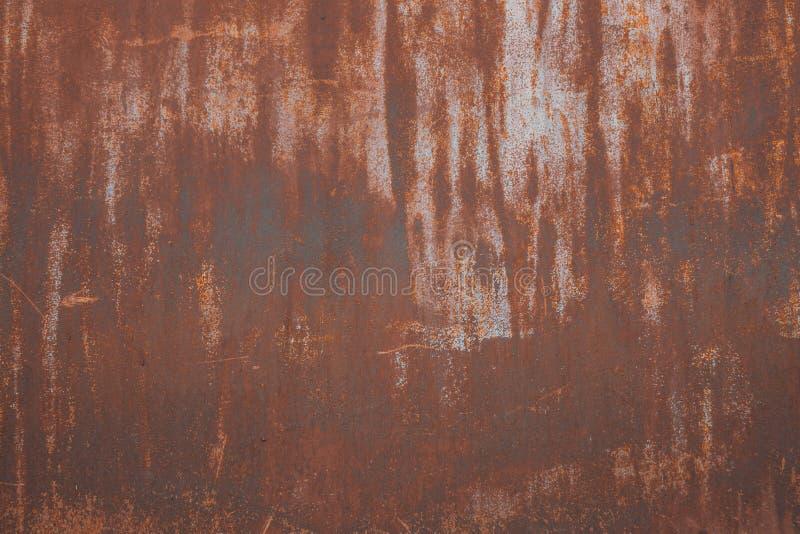 De Achtergrond van de metaalroest, oude de roesttextuur van het metaalijzer, roest op de oppervlakte royalty-vrije stock foto's