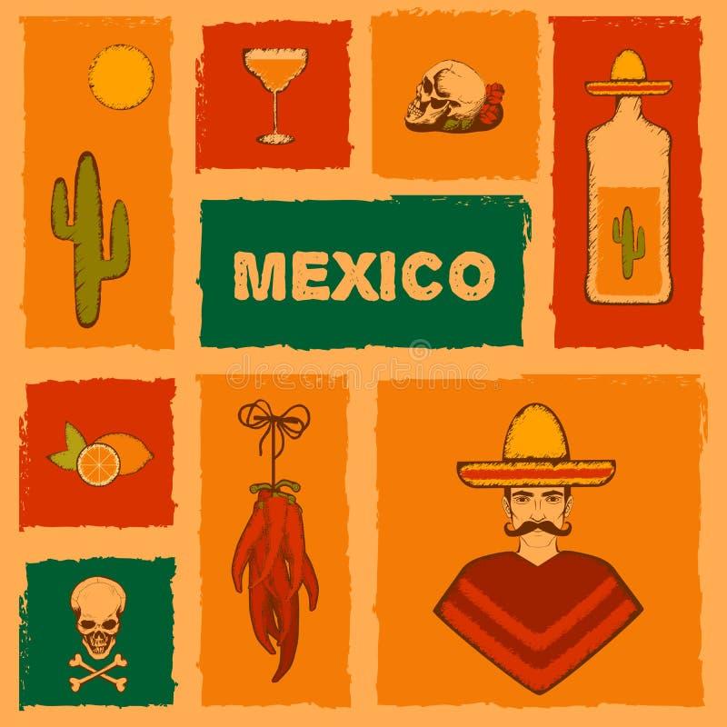 de achtergrond van Mexico stock illustratie