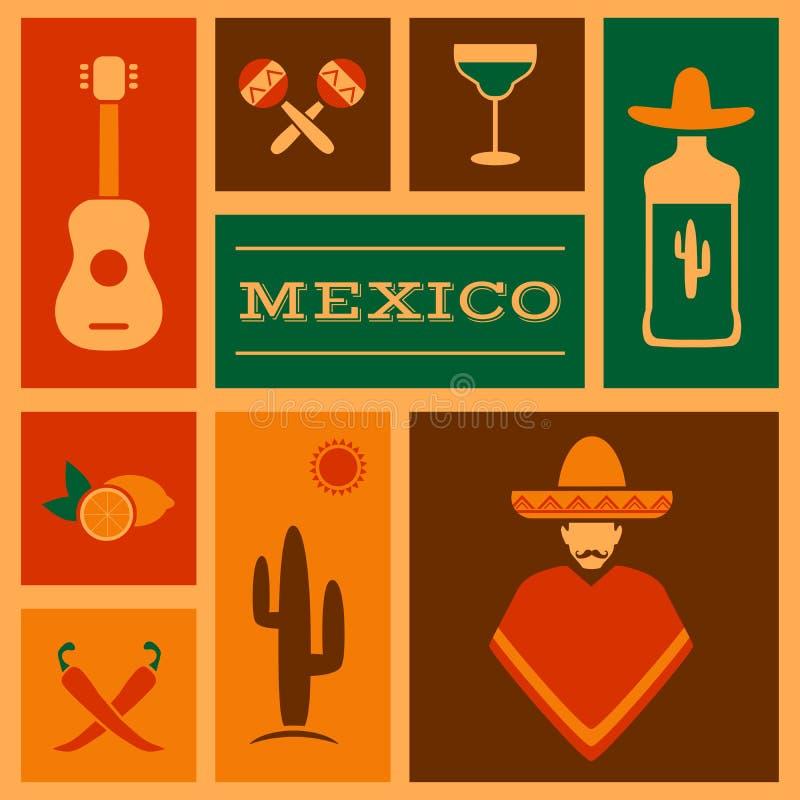de achtergrond van Mexico royalty-vrije illustratie