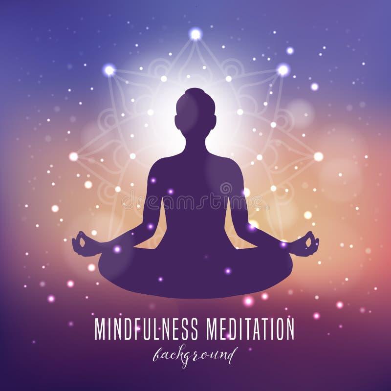 De Achtergrond van de Mindfulnessmeditatie stock illustratie