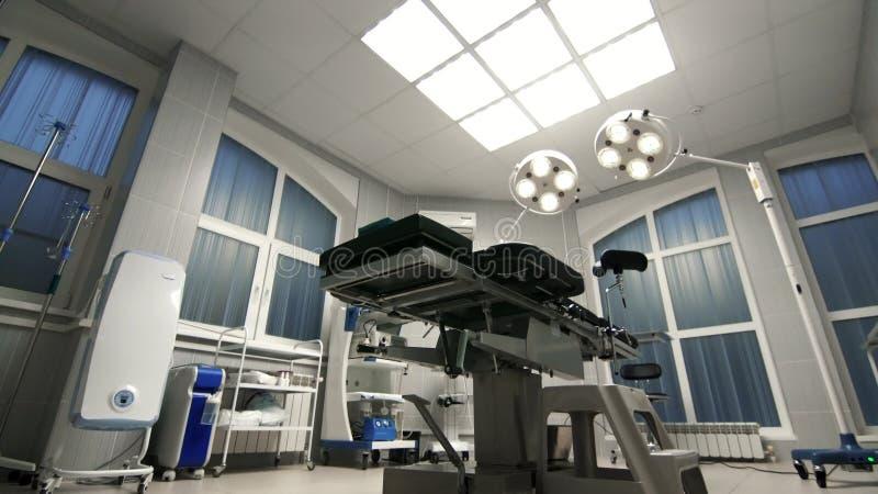 De achtergrond van moderne werkende ruimte bij het ziekenhuis dolly stock foto