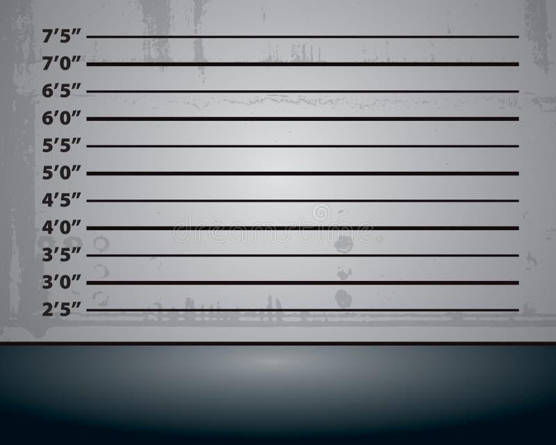 De Achtergrond van Mughsot van de politie stock illustratie