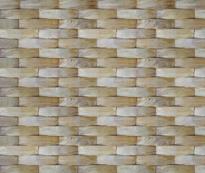De achtergrond van de muur Het geometrische houten patroon van het krommevernisje voor interio stock afbeelding