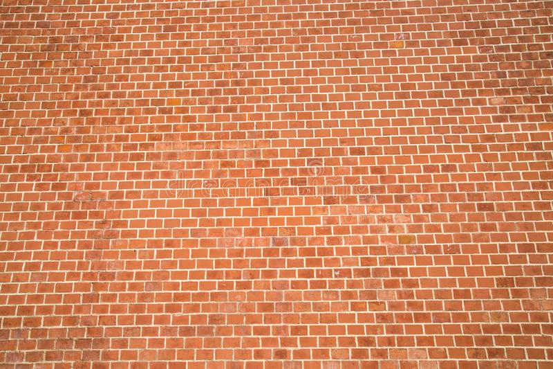 De achtergrond van de muur van rode baksteentexturen Als achtergrond voor grafisch ontwerp royalty-vrije stock afbeelding