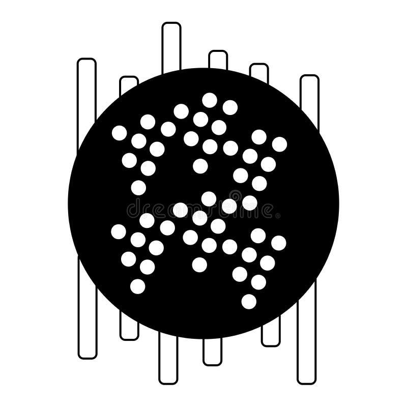 De achtergrond van de muziek Audioequaliserpictogram Correcte golf Abstract vectorelement voor muziekontwerp met equaliser Vector stock illustratie