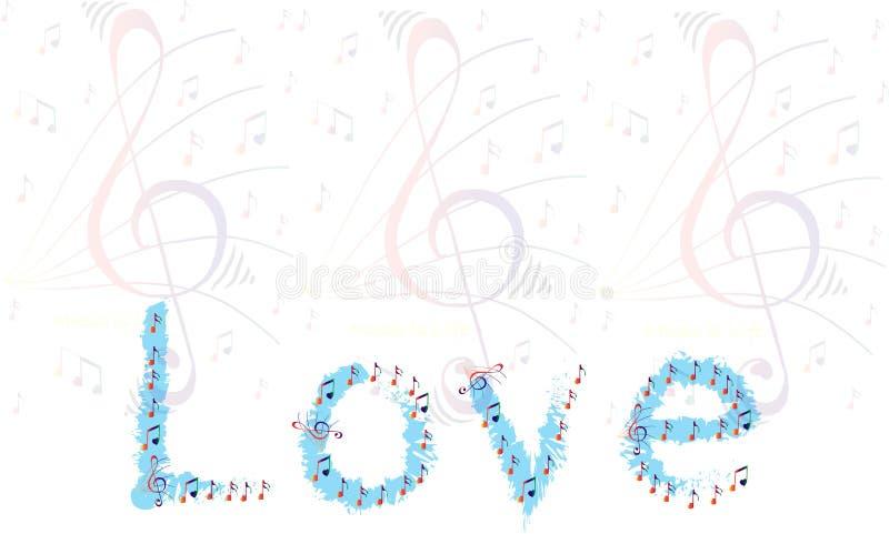 De achtergrond van de muziekminnaar uit muzieknota's die wordt samengesteld royalty-vrije stock afbeelding