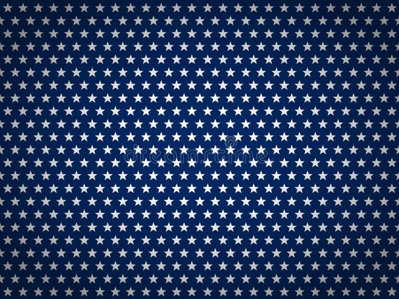 De Achtergrond van de de Onafhankelijkheidsdag van de V.S. Gelukkige 4 van Juli Vector abstracte grunge geborstelde vlag met teks vector illustratie