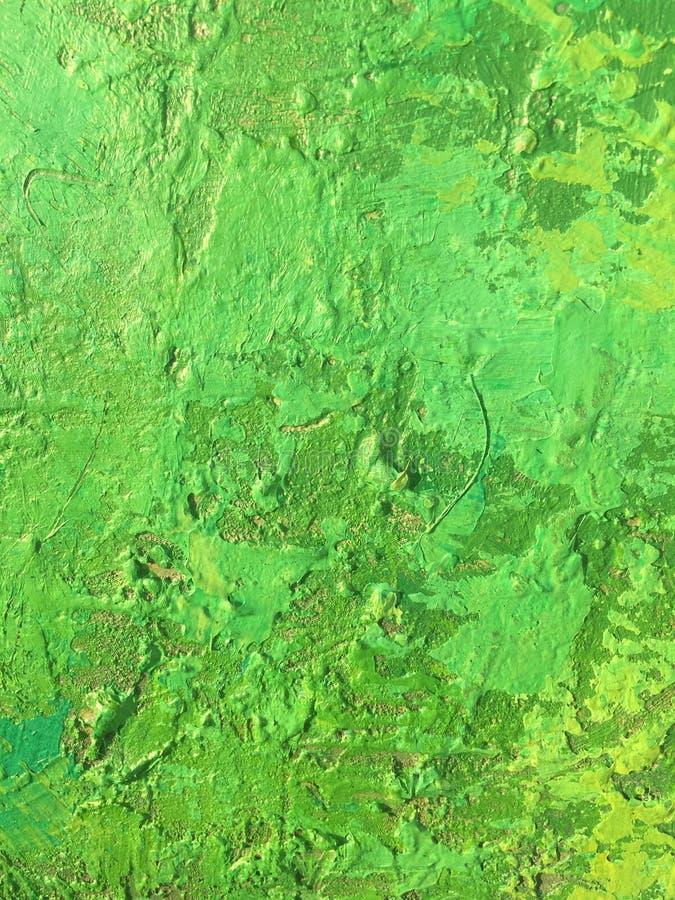 De achtergrond van de organisch stofzomer met groene de lente het schilderen textuur stock foto's