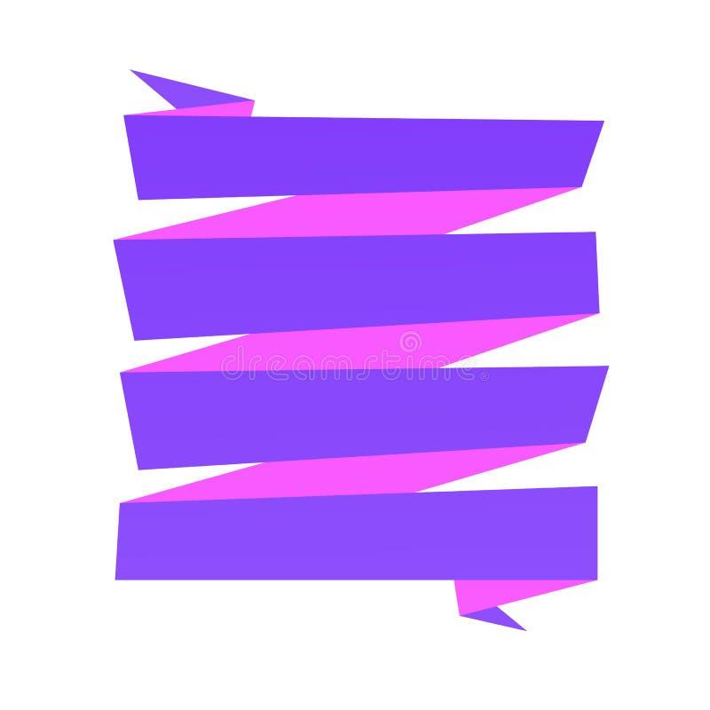 De achtergrond van de origamibanner stock illustratie