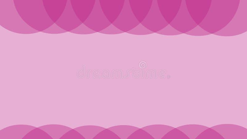 De achtergrond van de Overlapingscirkel Roze kleur Eenvoudig ontwerp stock illustratie